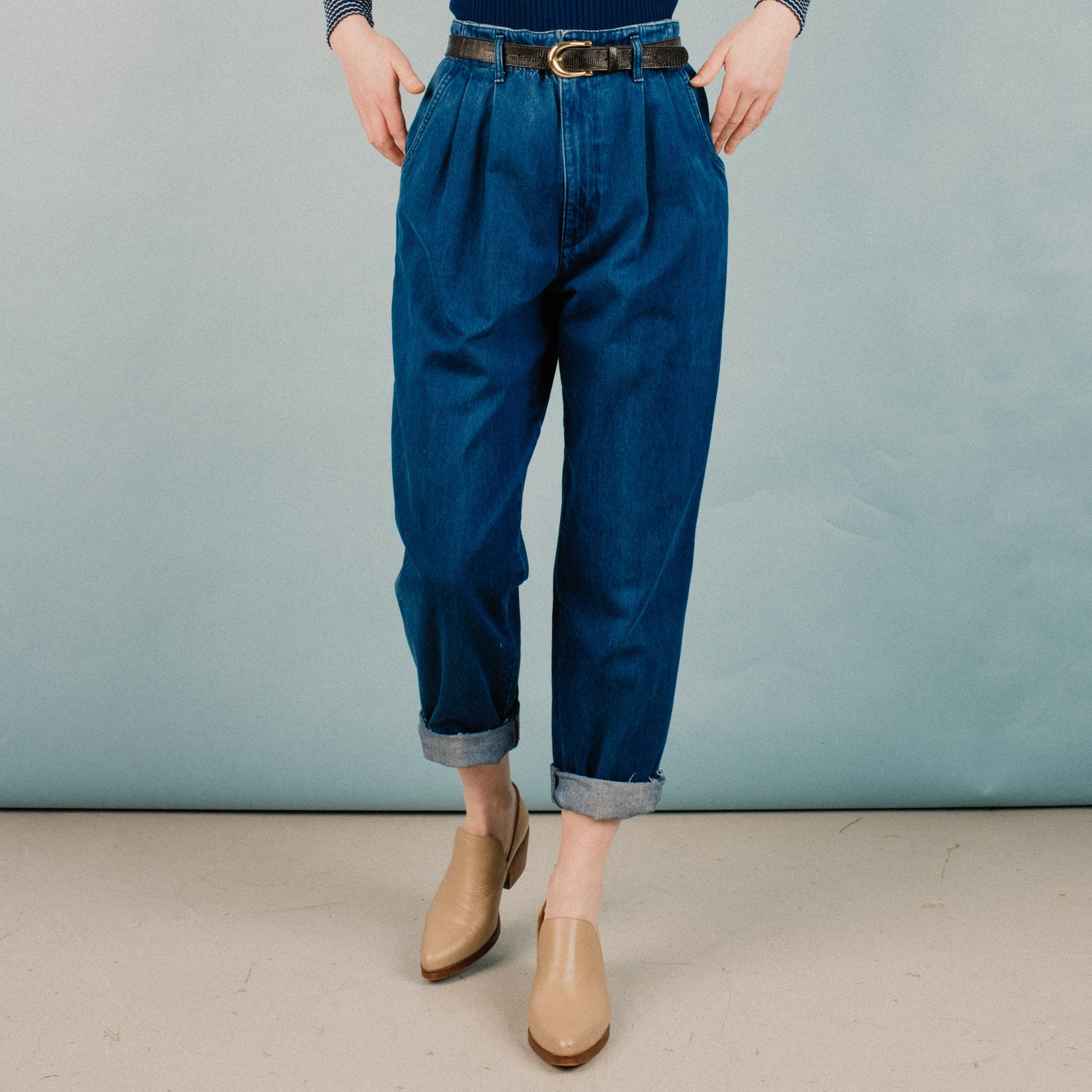Vintage Dark Wash Denim Pants / S/M