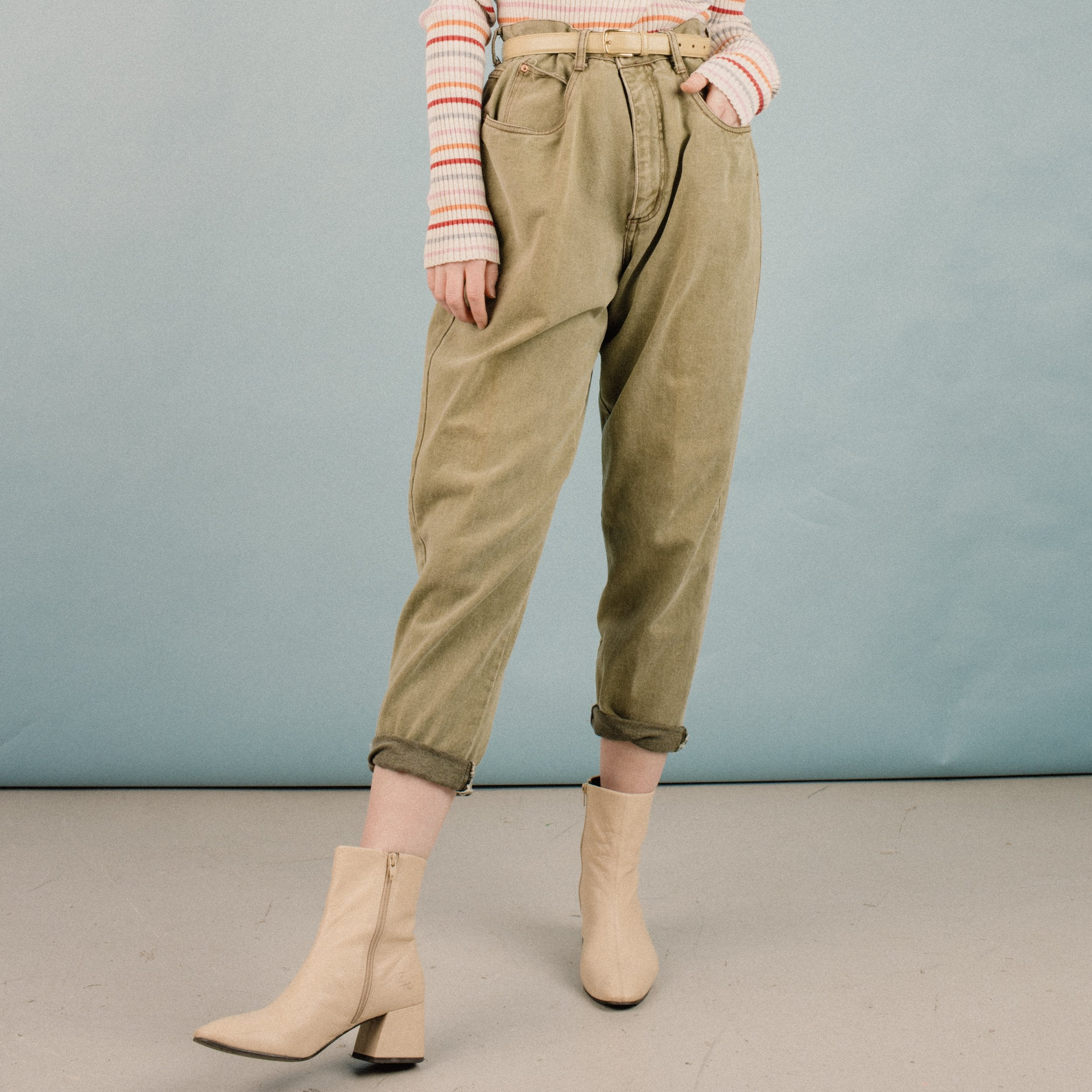 Vintage Pistachio Denim Pants / M/L