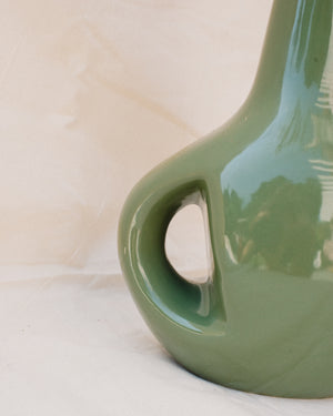Vintage Green Art Deco Vase