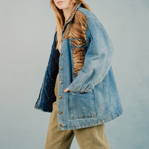 Vintage Oversized Animal Denim Jacket / S/M - Closed Caption