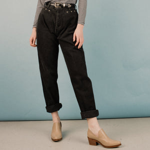 Vintage Charcoal High Rise Western Denim Pants / S/M