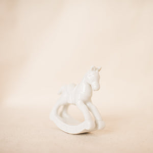 Vintage Delicate White Porcelain Horse - Closed Caption