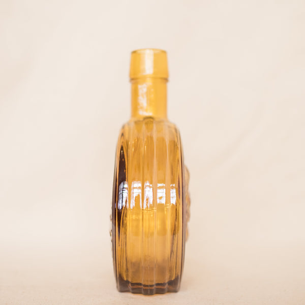 Vintage WHEATON Amber Glass Whiskey Bottle