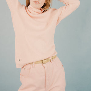 Vintage Cherry Blossom Turtleneck / M