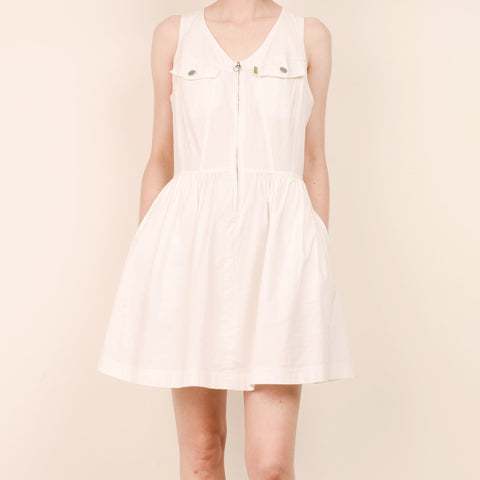 Vintage ESPRIT Stark White Dress / S/M