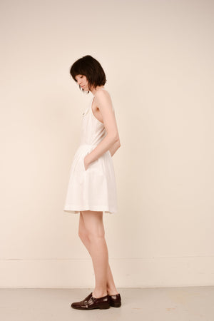 Vintage ESPRIT Stark White Dress / S/M - Closed Caption