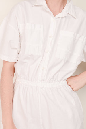 Vintage Stark White Cotton Overalls / S - Closed Caption
