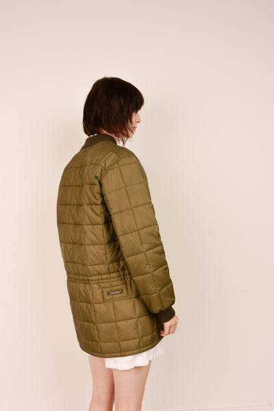 Vintage Army Green Quilted Military Lining Jacket / S