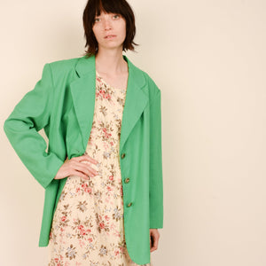 Vintage Oversized Apple Green Blazer / S