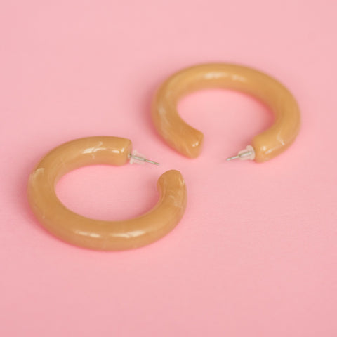 Smoked Caramel Chunky Hoop Earrings