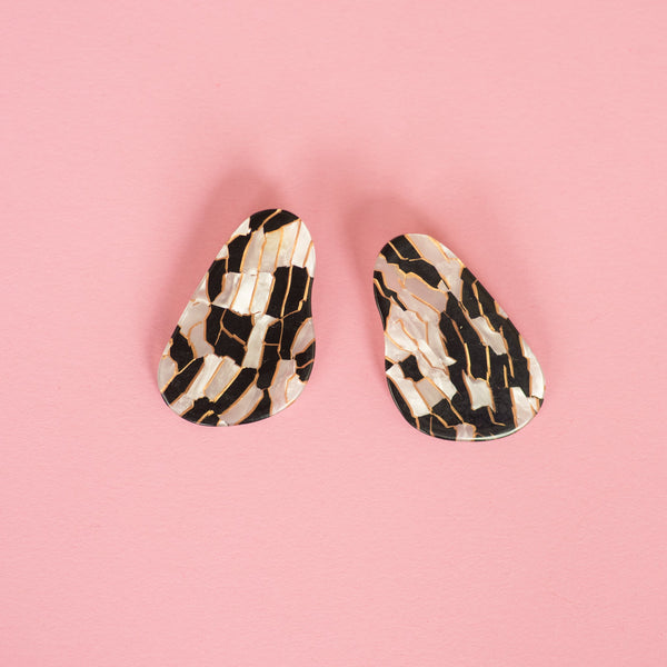 Geometric Abstract Statement Earrings