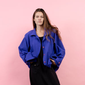 Vintage Oversized Purple Windbreaker / S/M
