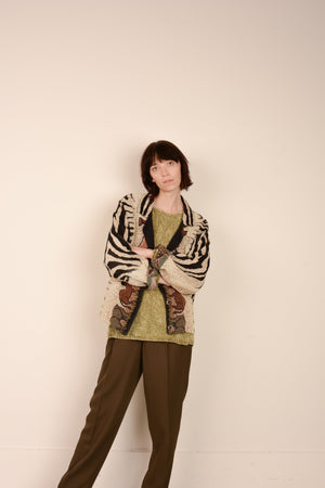 Vintage Animal Earth Tones Tapestry Jacket / S - Closed Caption