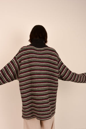 Vintage GAP Striped Chunky Knit Wool Sweater / S/M - Closed Caption