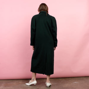 Vintage Oversized Hunter Green Wool Coat / S/M/L - Closed Caption