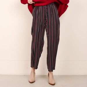Vintage High Rise Super Soft Striped Oversized Pants / S/M - Closed Caption