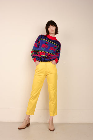 Vintage High Rise Canary Yellow Twill Pants / XS/S - Closed Caption
