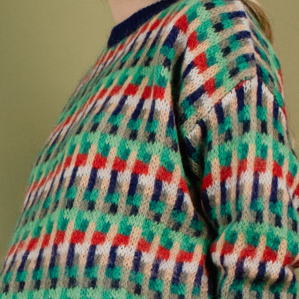 Vintage UNITED COLORS OF BENETTON Colorful Knit Sweater / S