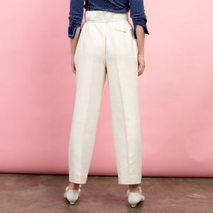 Vintage Creme Raw Silk Trousers / S/M - Closed Caption