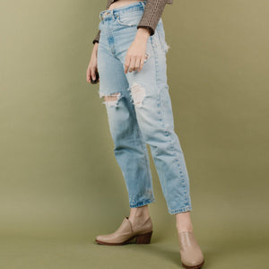 Vintage Light Wash Distressed CARHARTT Denim Pants / S/M
