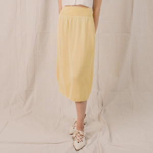Vintage Lemon Sorbet Knit Skirt / S