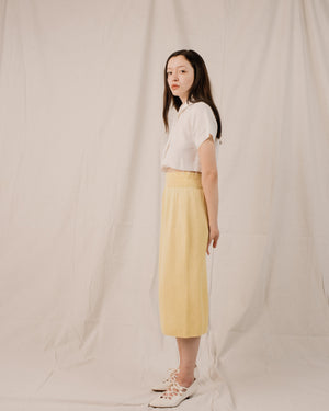 Vintage Lemon Sorbet Knit Skirt / S - Closed Caption