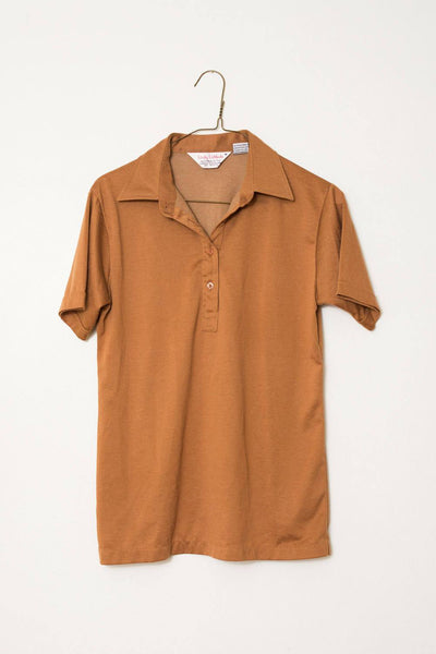 Vintage Toffee AMERICAN LAMINATING Polo Shirt / S