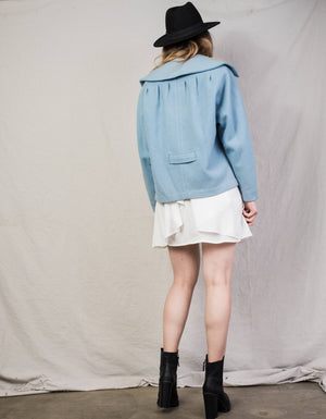 Vintage 1940 Powder Blue BEDELL Wool Jacket / S - Closed Caption