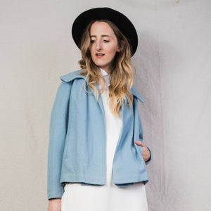 Vintage 1940 Powder Blue BEDELL Wool Jacket / S