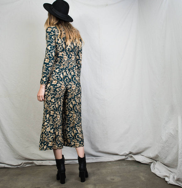 Vintage Long Sleeve Floral Jumper / XS/S