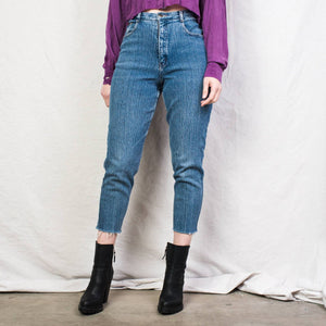 Vintage Stretchy Acid Blue Denim Pants / 29""