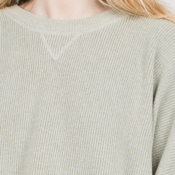 Vintage Oversized Light Green Knit Sweater XS-M