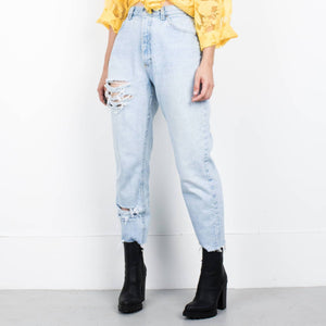 Vintage LEE Distressed Denim Pants / 28""