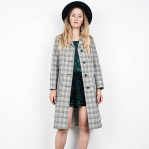 Vintage Plaid Light Weight Coat / S