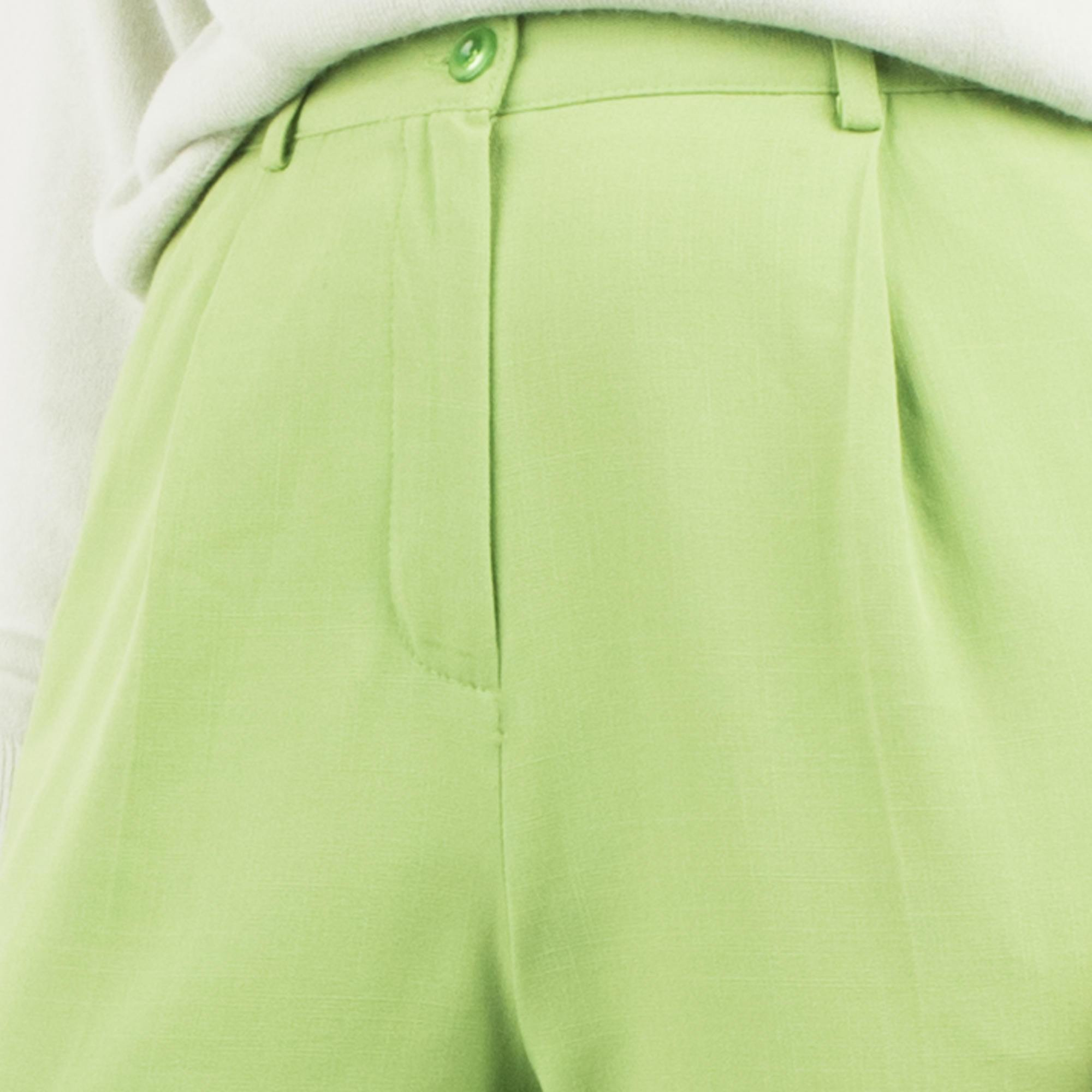 Vintage Lime Green Tapered Trousers / S - Closed Caption