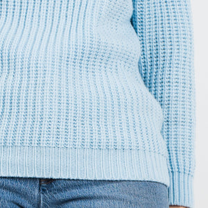 Vintage Baby Blue Chunky Knit Sweater / XS - Closed Caption