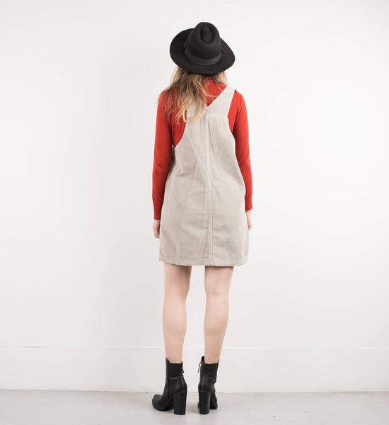 Vintage Honey Vanilla Corduroy Overall Dress / S