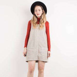 Vintage Honey Vanilla Corduroy Overall Dress / S - Closed Caption