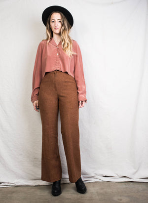 "Vintage Wool Bell Bottom Pants / 28"" - Closed Caption"