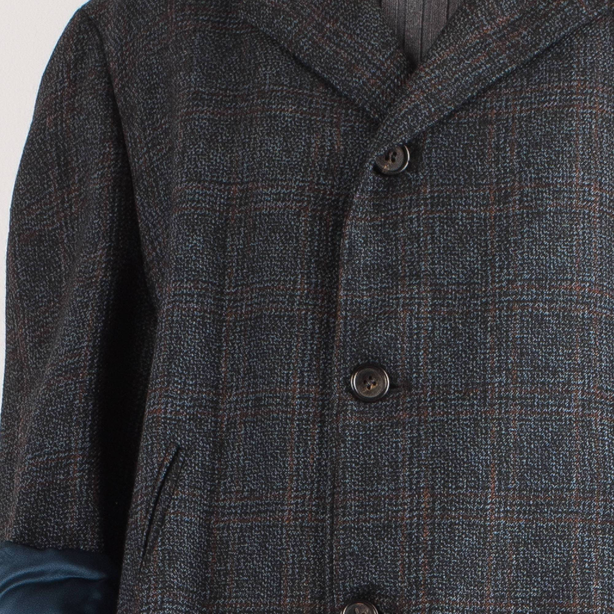 Vintage Charcoal Tweed Oversized Wool Coat Blazer / S - Closed Caption