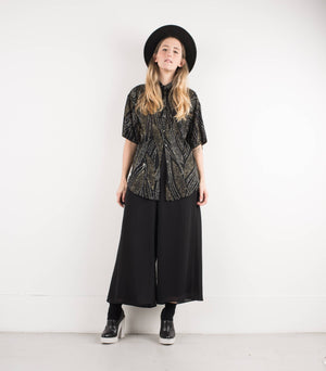 Vintage Black Chiffon Wide Leg Pants / S - Closed Caption