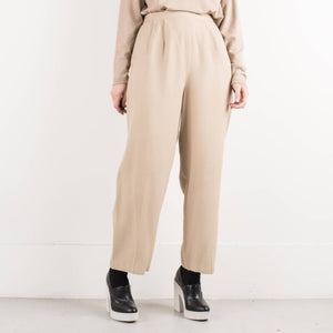 Vintage Latte Wide Leg Trousers / S/M