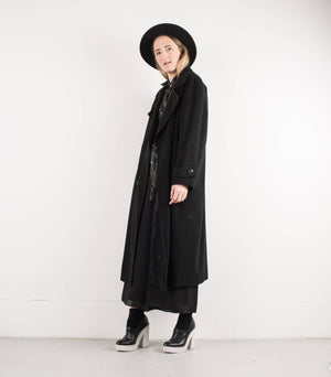 Vintage Black Wool and Cashmere Coat / S - Closed Caption