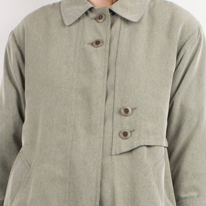 Vintage Celadon Green Light Weight Coat / S - Closed Caption