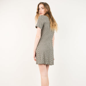 Vintage Plaid Skater Dress / S