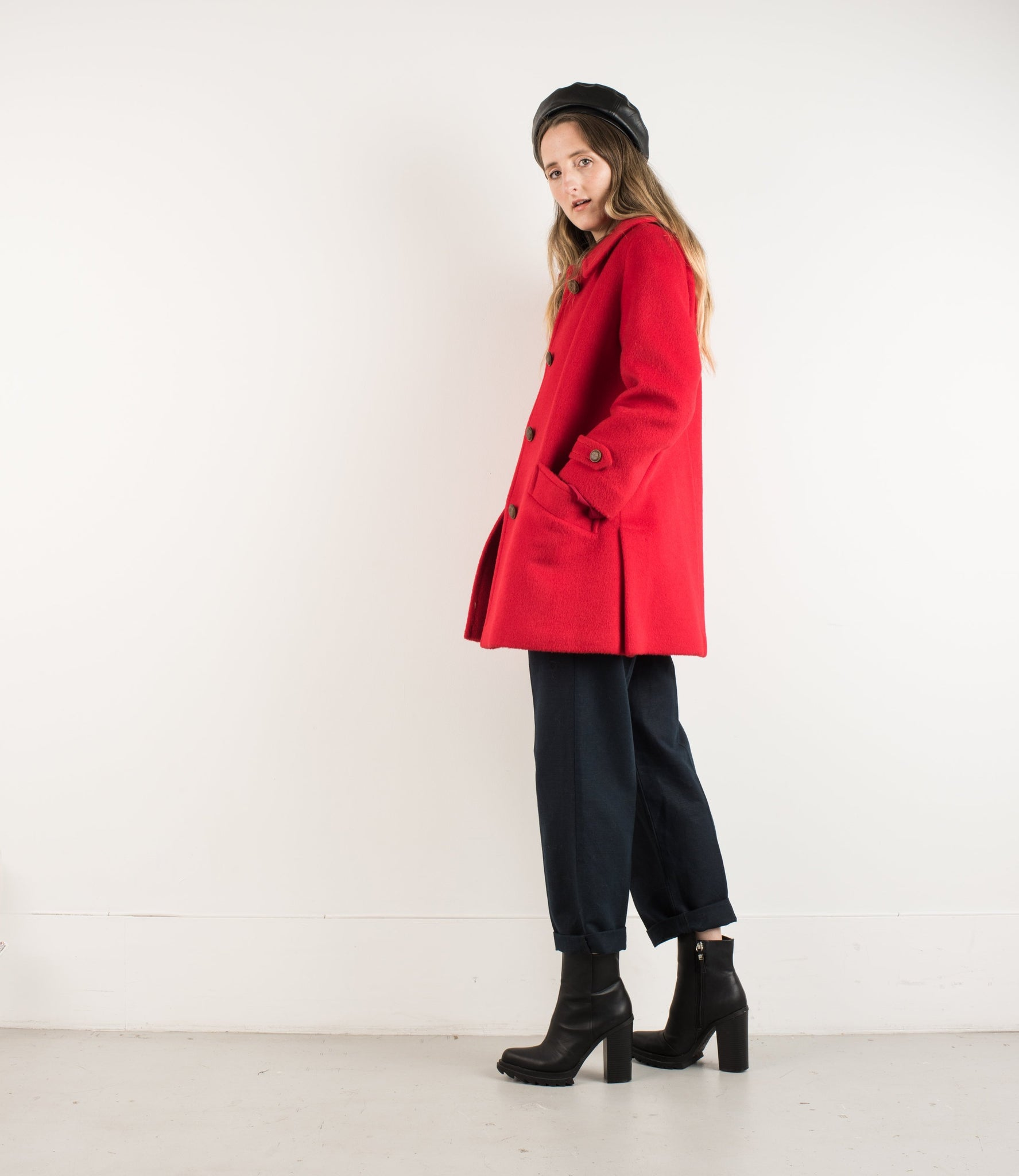 Vintage Red Wool Jacket / S - Closed Caption