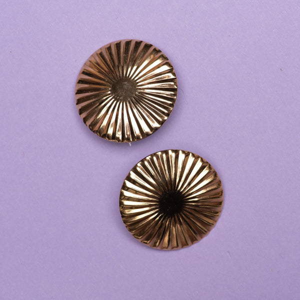 Vintage Gold Sun Statement Earrings