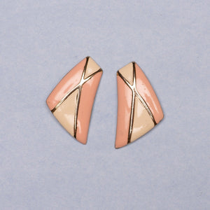 Vintage Gold + Pastel Statement Earrings - Closed Caption