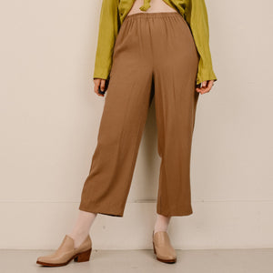 Vintage Butterscotch Silk High Rise Trousers / S