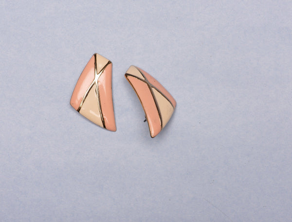Vintage Gold + Pastel Statement Earrings